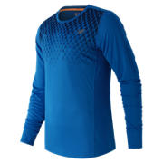 NB Accelerate Long Sleeve Printed Top, Sonar Print