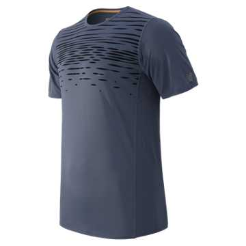 New Balance Accelerate Short Sleeve Printed Top, Crater Print
