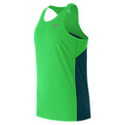 Accelerate Singlet, Green with Navy