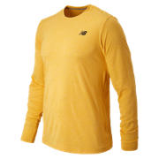 Long Sleeve Heather Tech Tee, Gold Rush