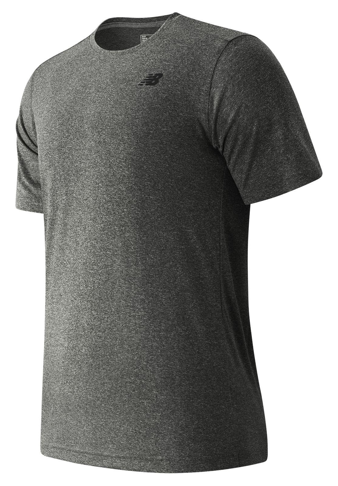 New Balance : Short Sleeve Heather Tech Tee : Men's Short Sleeve & Sleeveless Shirts : MT53081BKH