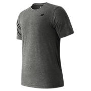 Short Sleeve Heather Tech Tee, Black Heather
