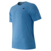 Short Sleeve Heather Tech Tee, Electric Blue