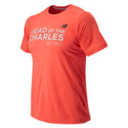 HOCR Short Sleeve Heather Tech Tee, Flame