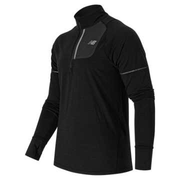 New Balance Performance Merino Half Zip, Black