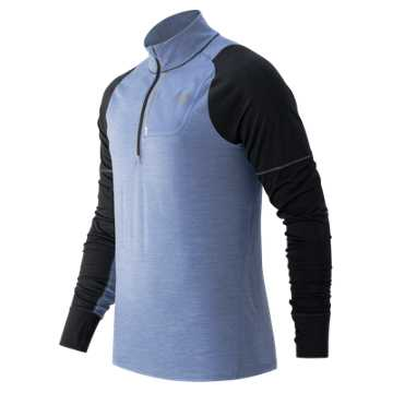 New Balance Performance Merino Half Zip, Crater with Black