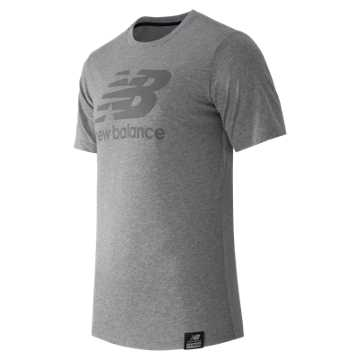 New Balance Short Sleeve Logo Tee, Athletic Grey