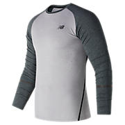 Trinamic Long Sleeve Top, Athletic Grey with Heather Charcoal