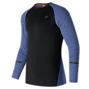 Trinamic Long Sleeve Top, Marine Heather with Black