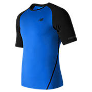 Trinamic Short Sleeve Top, Electric Blue with Black
