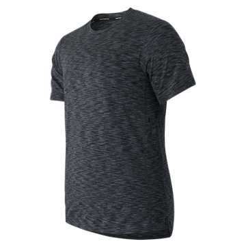 New Balance Max Speed Short Sleeve Top, Heather Charcoal