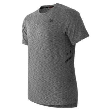 New Balance Max Speed Short Sleeve Top, Heather Grey