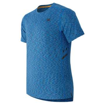 New Balance Max Speed Short Sleeve Top, Sonar