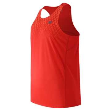 New Balance Accelerate Graphic Singlet, Fireball Print