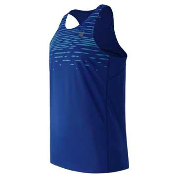 New Balance Accelerate Graphic Singlet, Pacific Print