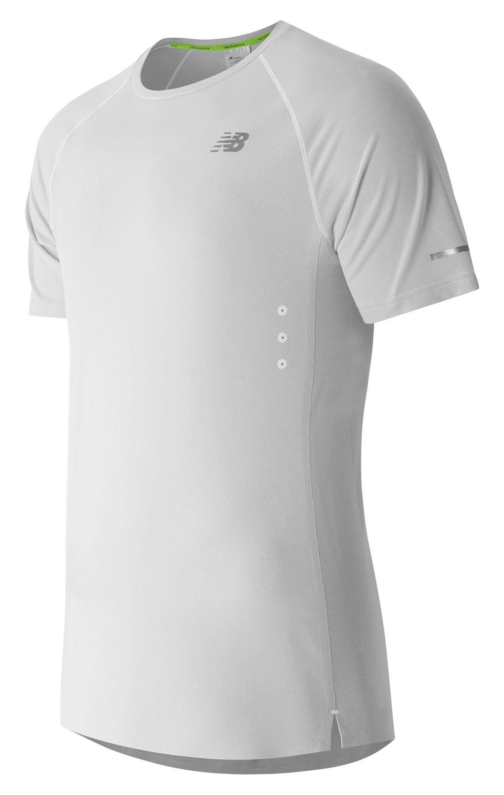 New Balance : Precision Run Short Sleeve : Men's Short Sleeve & Sleeveless Shirts : MT61218WT