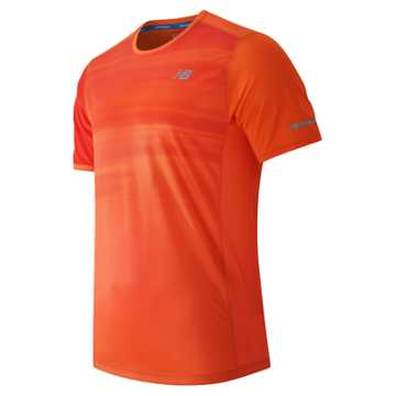 New Balance NB Ice Short Sleeve, Lava with Chrome Red