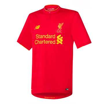 New Balance LFC Mens Henderson Home No Patch SS Jersey, High Risk Red