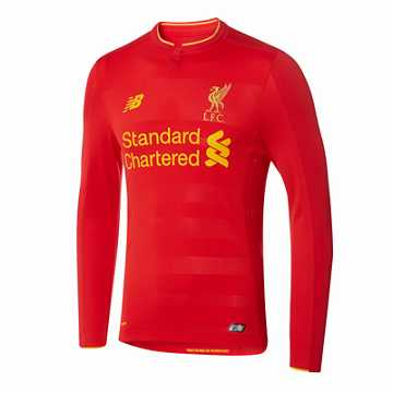 New Balance LFC Mens Henderson Home No Patch LS Jersey, High Risk Red