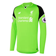 NB LFC Mens Mignolet Home EPL Patch GK LS Jersey, Locust