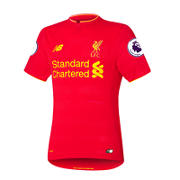 NB LFC Mens Coutinho Home SS Elite Jersey, High Risk Red