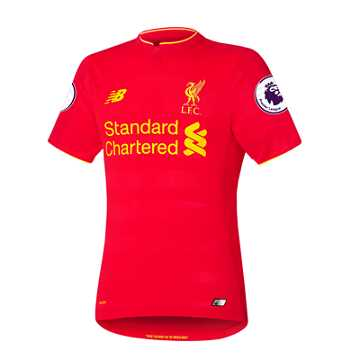 New Balance LFC Mens Henderson Home SS Elite Jersey, High Risk Red