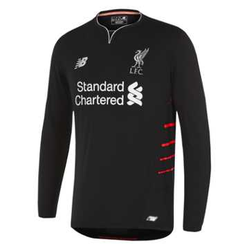 New Balance LFC Mens Firmino Away No Patch LS Jersey, Black