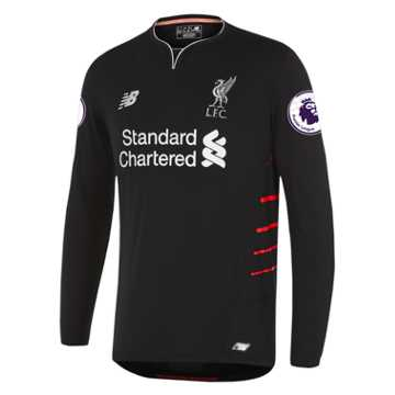 New Balance LFC Mens Firmino Away EPL Patch LS Jersey, Black