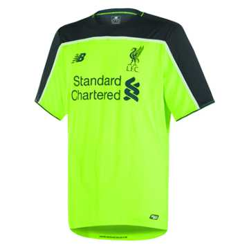 New Balance LFC Mens Firmino 3rd No Patch SS Jersey, Toxic