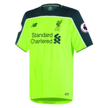 New Balance LFC Mens Firmino 3rd EPL Patch SS Jersey, Toxic