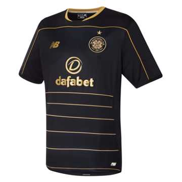 New Balance Celtic Mens Away SS Jersey, Black