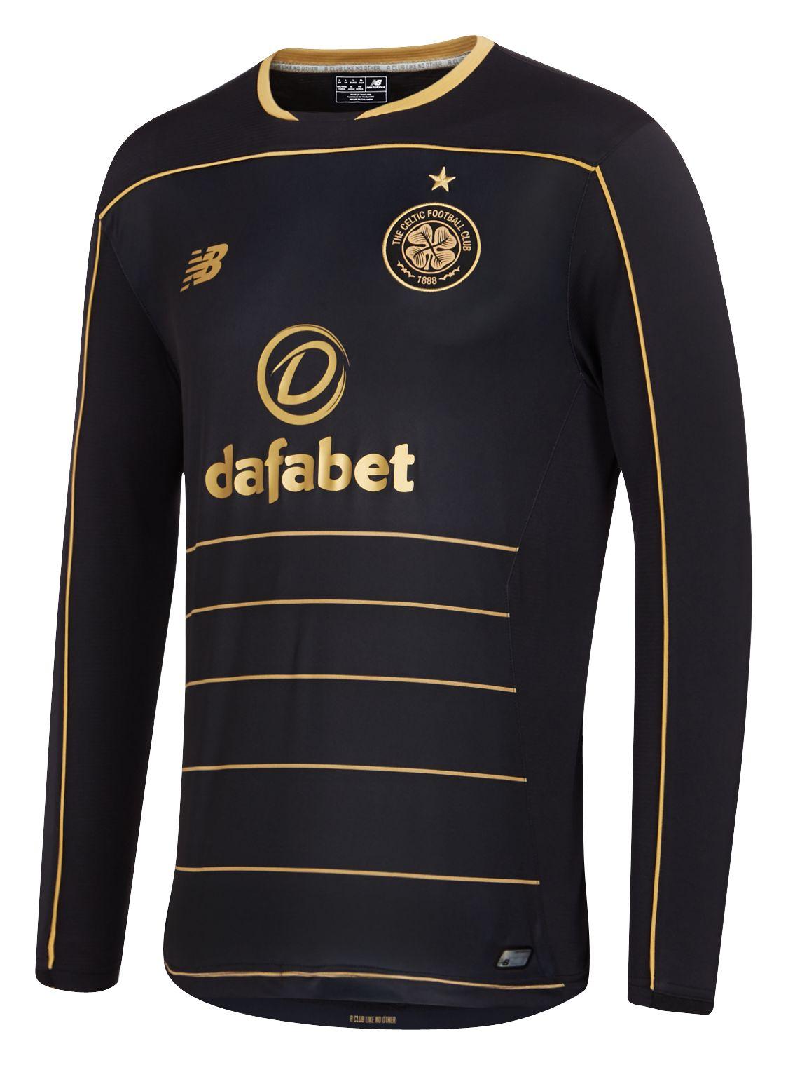 New Balance : Celtic Mens Away LS Jersey : Men's 2016/17 Away Kit : MT630105BK