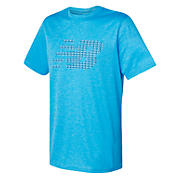 Tech Training Visaro Graphic Short Sleeve Jersey, Polaris Heather