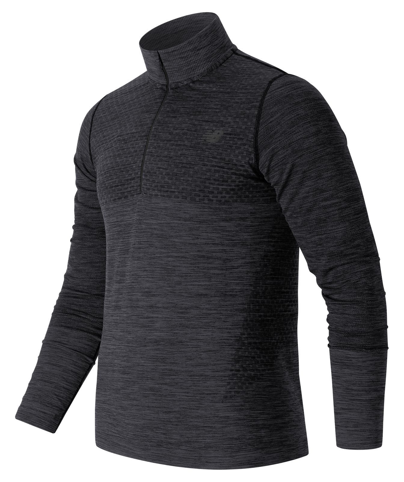 New Balance : M4M Seamless Quarter Zip : Unisex Performance : MT63014BKH