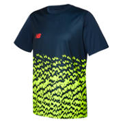 NB Tech Training Furon Graphic SS Jersey LE, Galaxy with Firefly