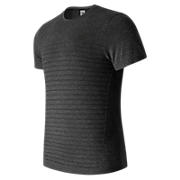 M4M Seamless Short Sleeve Top, Black Heather