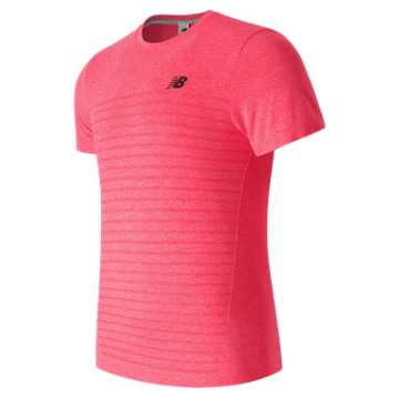 New Balance M4M Seamless SS Top, Bright Cherry Heather