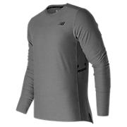 N Transit Long Sleeve Top, Athletic Grey
