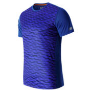 New Balance Accelerate SS Graphic Top, Marine Blue
