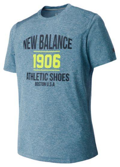 New Balance 63091 Men's Heather Graphic Short Sleeve Tee   MT63091RIH