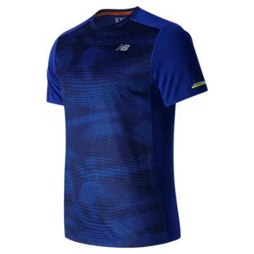 New Balance NB Ice Short Sleeve, Marine Blue Print with Black