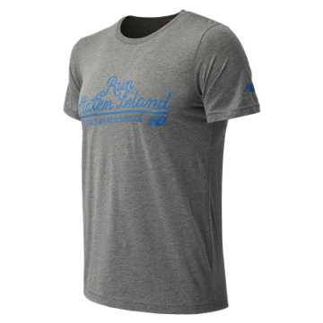 New Balance NYRR Staten Island SS Tee, Athletic Grey