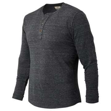 New Balance Duofold LS Henley, Charcoal