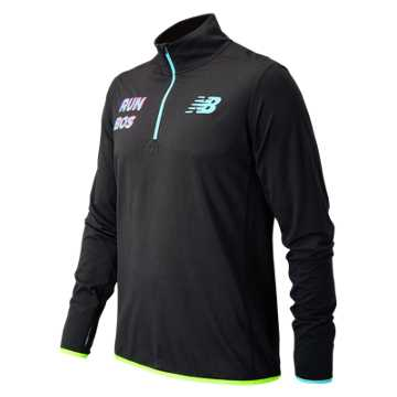New Balance Boston 1/4 Zip, Black