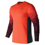 NB Accelerate Graphic Long Sleeve, Alpha Orange with Supercell