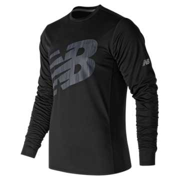 New Balance Accelerate Graphic Long Sleeve, Black