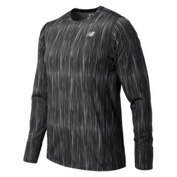 New Balance Accelerate Graphic Long Sleeve, Typhoon Print with Black
