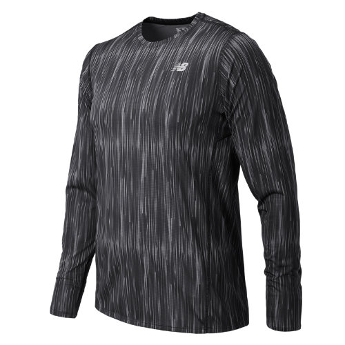 New Balance : Accelerate Graphic Long Sleeve : Men's Apparel Outlet : MT71065TPT