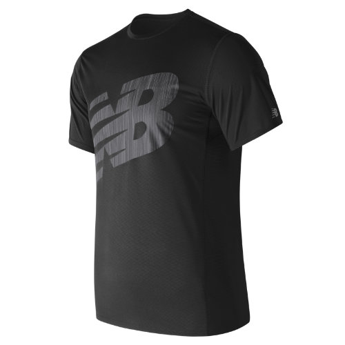 New Balance : Accelerate Graphic Short Sleeve : Men's Apparel Outlet : MT71066BK