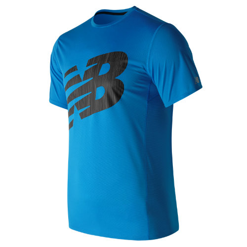 New Balance : Accelerate Graphic Short Sleeve : Men's Apparel Outlet : MT71066ELB